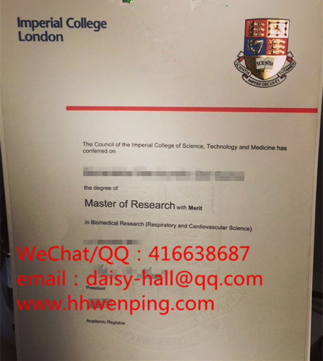 imperial college london degree certificate英国帝国理工学院毕业证